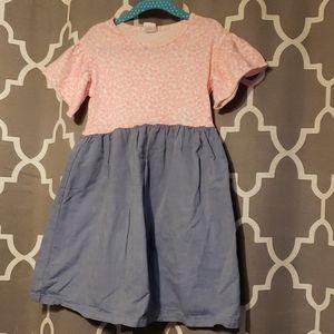 Baby Gap Toddler Girl pink flower & blue dress 5